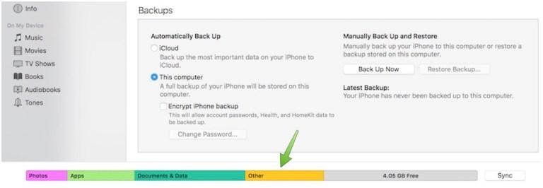 """Как удалить """"другие"""" данные с iPhone, iPad и iPod touch"""