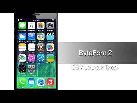 Как изменить шрифт в iOS 7