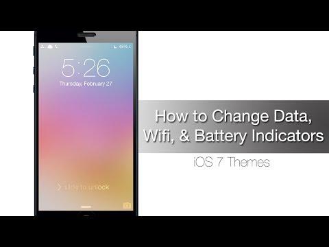 Как изменить индикаторы батареи, Wi-Fi и данных iPhone на iOS 7