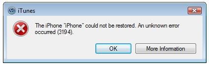 Как исправить ошибку 3194 в iTunes при восстановлении или обновлении iPhone или iPad
