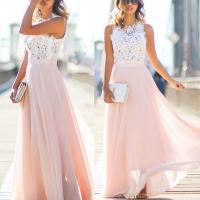 Blush Pink Lace Prom Dress, 2016 Long Prom Dress, Lace ...