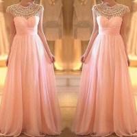 Modest Prom Dresses, Blush Pink Prom Dress, Long Prom ...