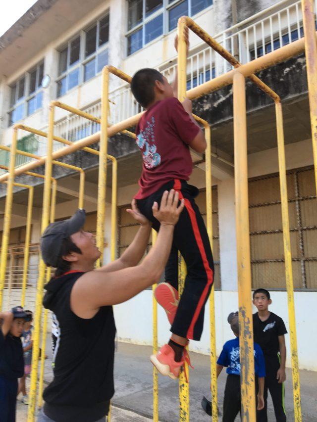 少年野球チームでの体幹トレーニング