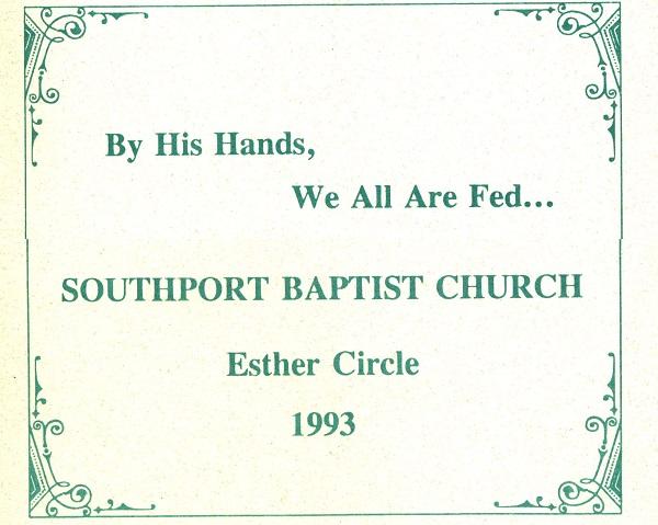 1993 Esther Circle Cookbook
