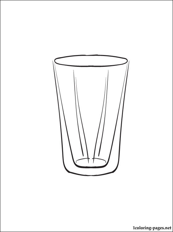 Free coloring pages of cup water cup