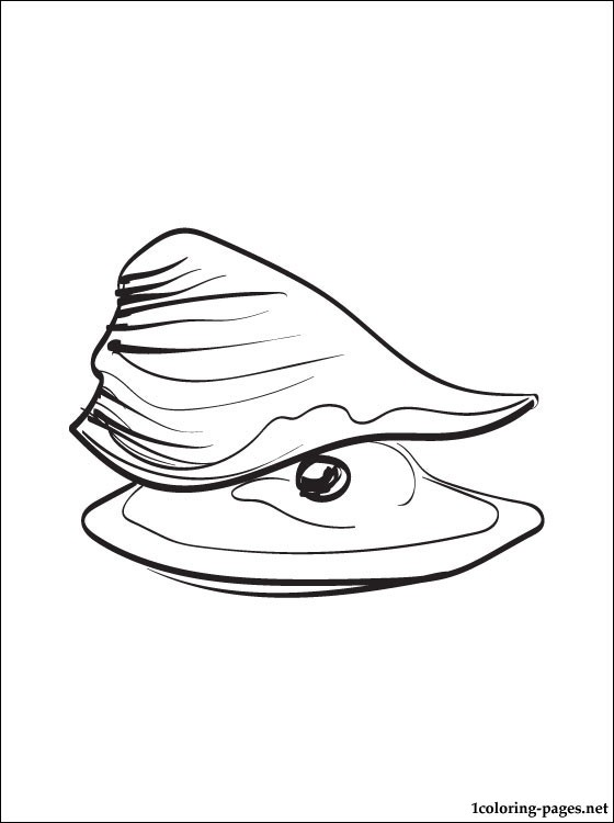 Oyster Printable And Coloring Page Coloring Pages