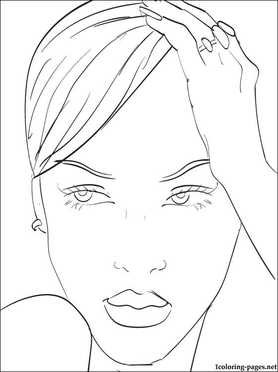 Rihanna printable page to color  Coloring pages