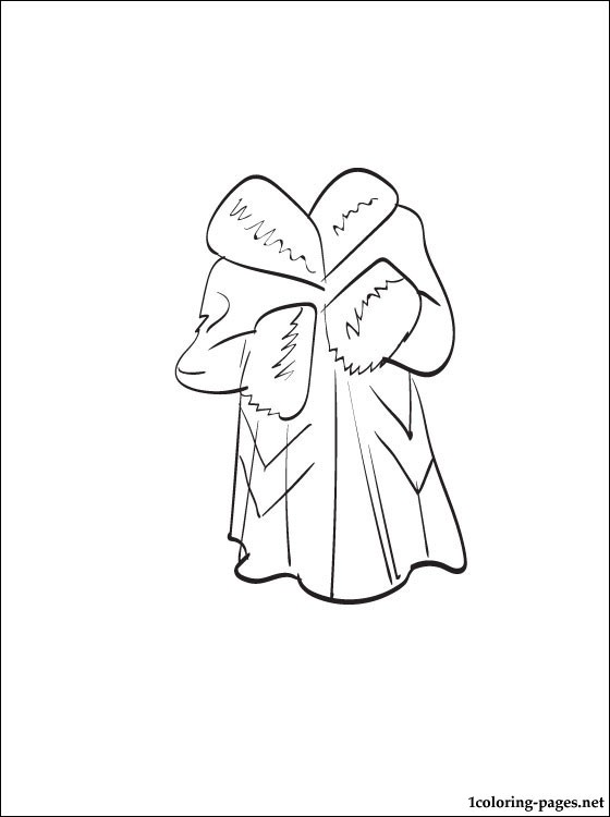 Fur Coat Coloring Page Coloring Pages