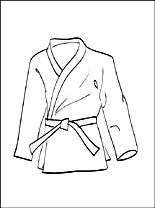 Kimono Coloring Page For Free Coloring Pages