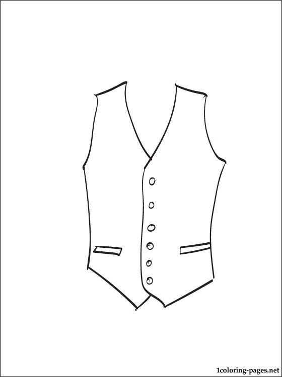 Waistcoat Coloring Page To Print Coloring Pages