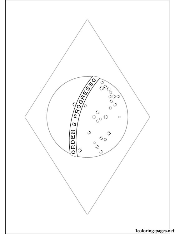Brazil flag coloring page   Coloring pages