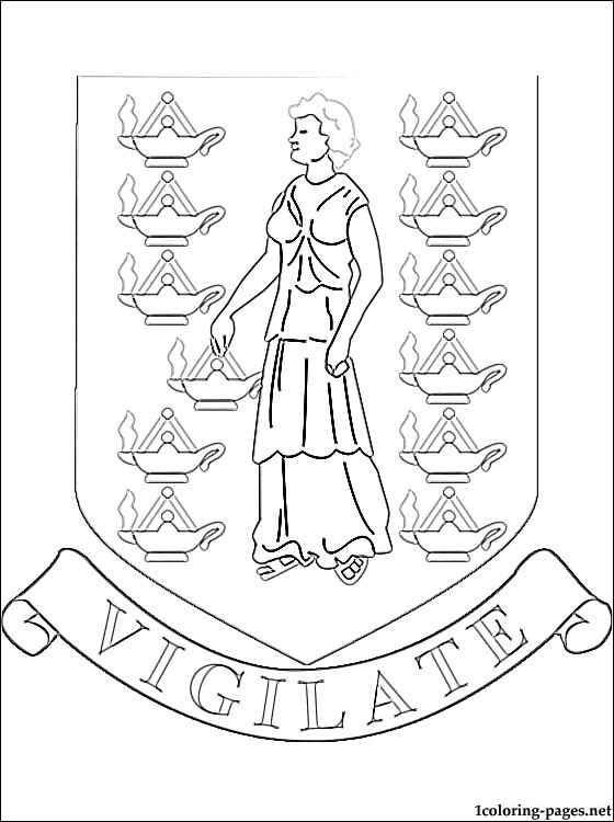 British Virgin Islands coat of arms coloring page