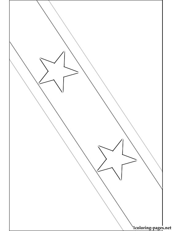 Saint Kitts And Nevis Flag Coloring Page Coloring Pages