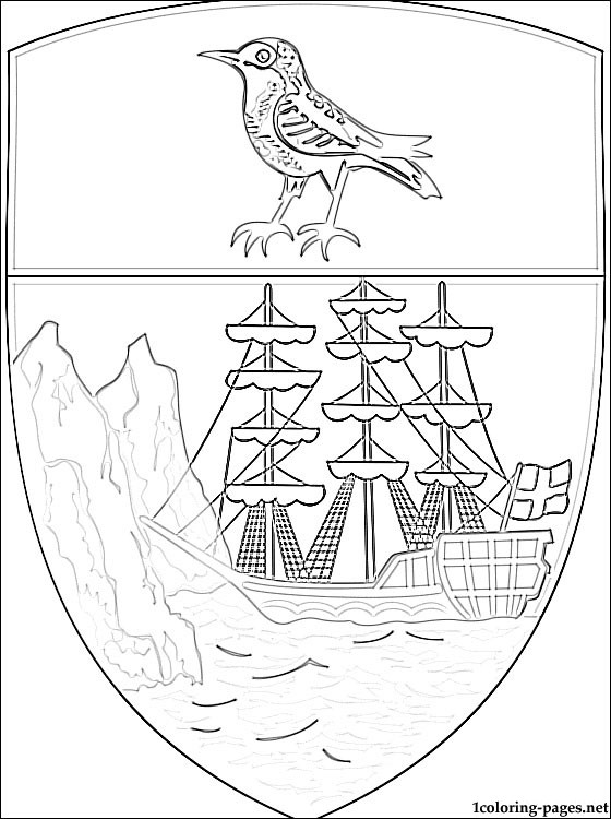 Saint Helena Coat Of Arms Coloring Page Coloring Pages