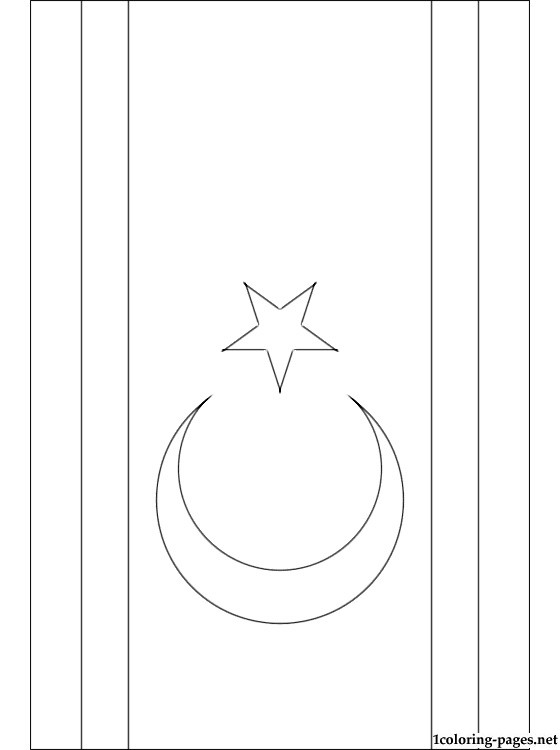 Northern Cyprus Flag Coloring Page Coloring Pages