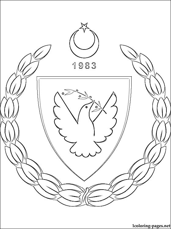 Turkish Republic of Northern Cyprus coat of arms coloring