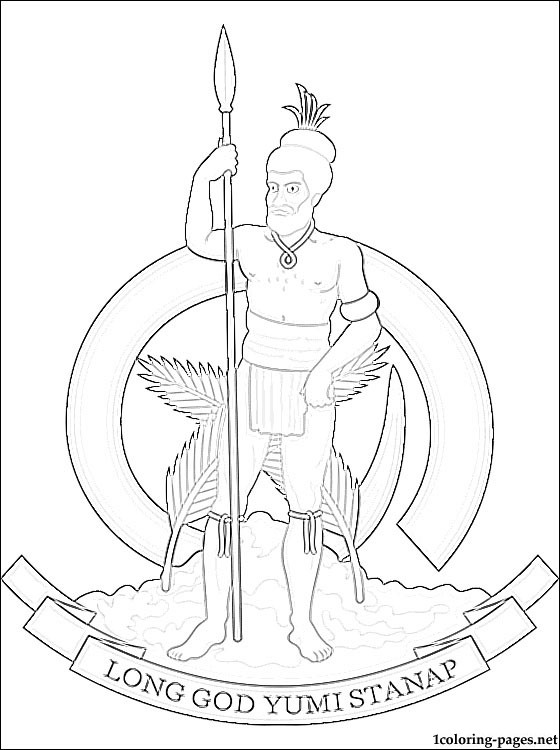 Vanuatu coat of arms coloring page  Coloring pages