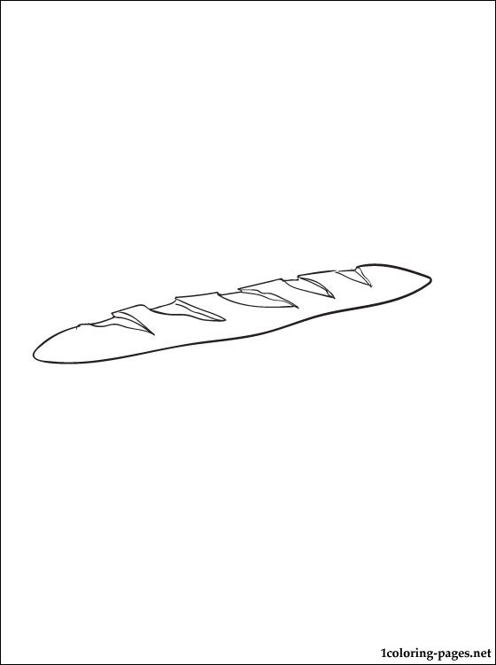 Baguette Coloring Page Coloring Pages