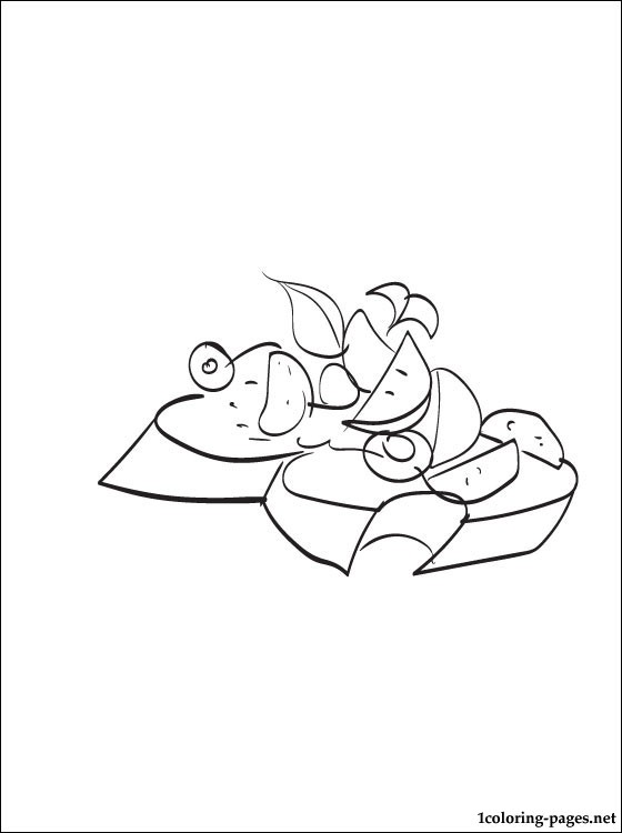 Bruschetta Coloring Page Coloring Pages
