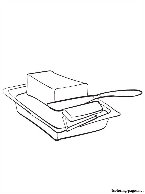 Butter Coloring Page Coloring Pages