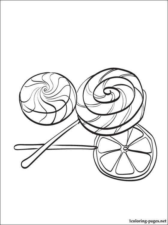 Candy Coloring Page Coloring Pages