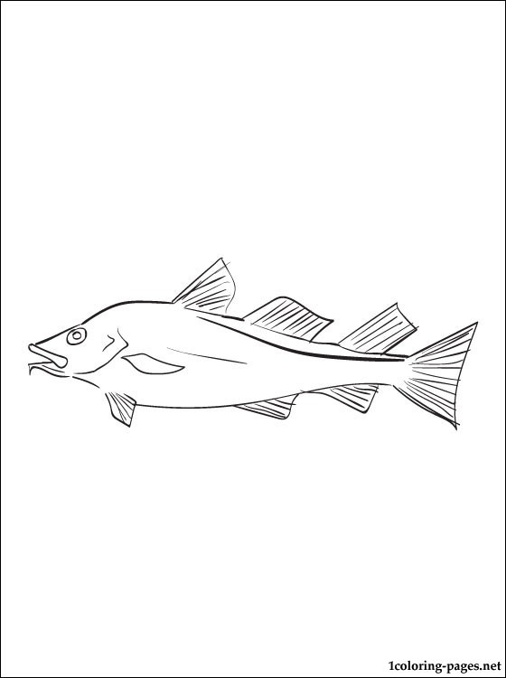 Cod Fish Coloring Page Coloring Pages