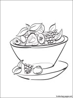 Fruit salad coloring page   Coloring pages
