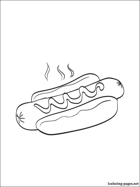Hotdog Coloring Pages : hotdog, coloring, pages, Coloring, Pages
