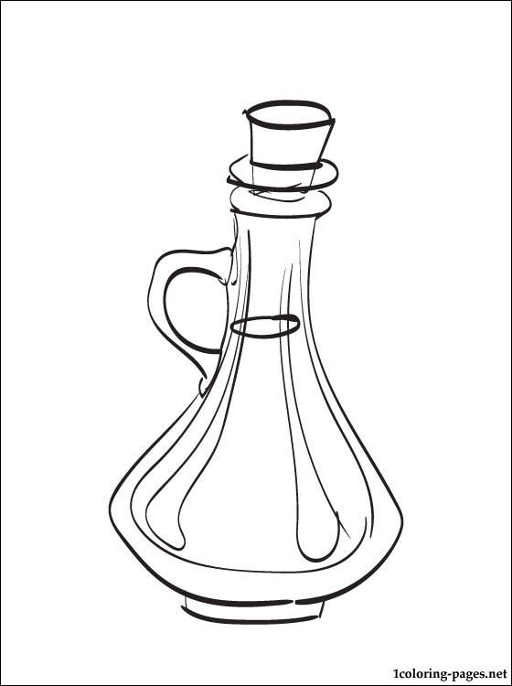 Vinegar Coloring Page Coloring Pages