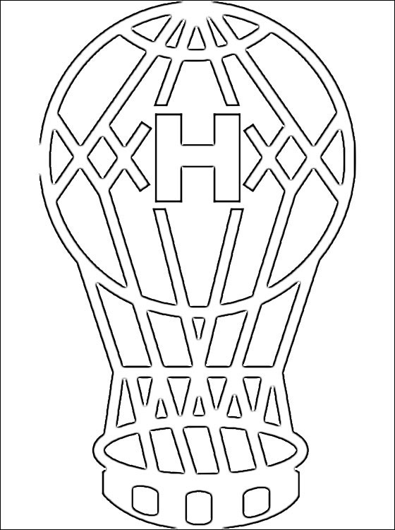 Coloring page of Club Atltico Huracn logo  Coloring pages