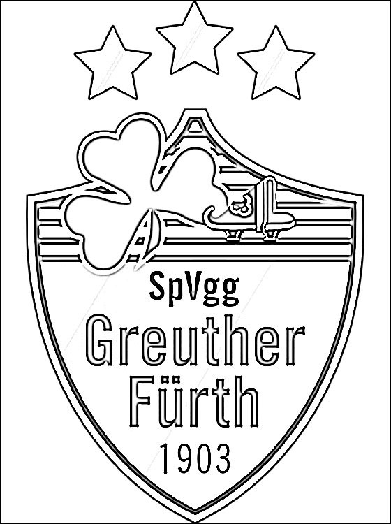 Coloring Page Of SpVgg Greuther Frth Logo Coloring Pages