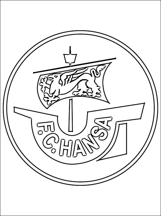 Coloring Page Of FC Hansa Rostock Logo Coloring Pages