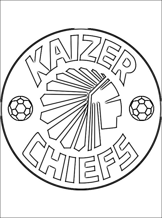 kaizer chiefs f.c. coloring page  coloring pages