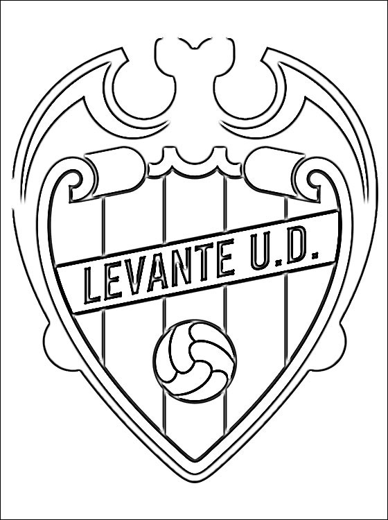 Emblem Of Levante UD Coloring Page Coloring Pages