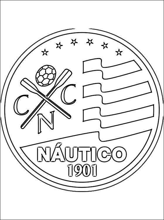 Emblem of Clube Náutico Capibaribe coloring page