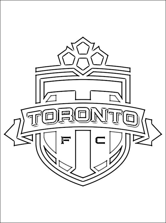 Toronto FC Football Club Coloring Page Coloring Pages