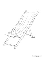 Beach chair coloring page   Coloring pages