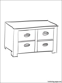 Cabinet coloring page Coloring pages