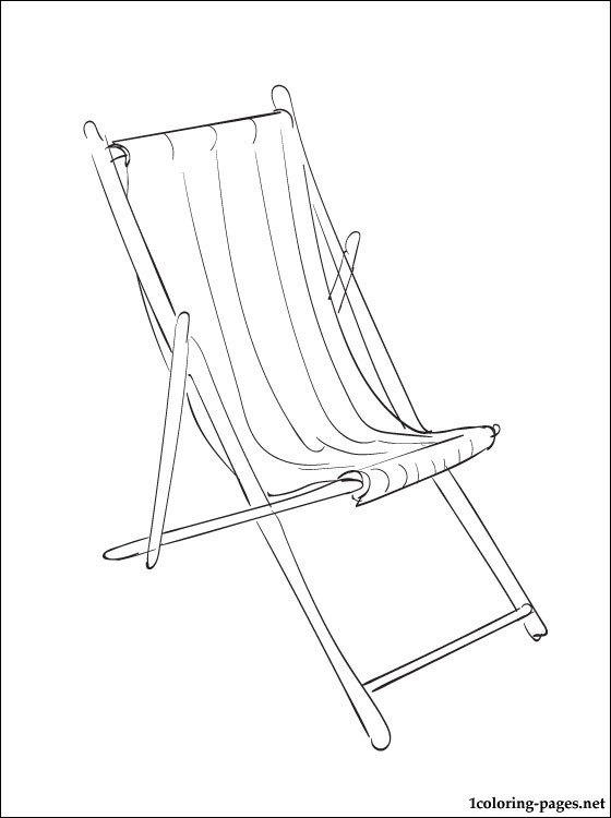 Coloring Page Deckchair Coloring Pages