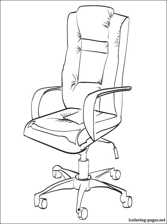 Office chair coloring page  Coloring pages