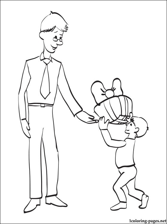 Fathers Day Printable Coloring Page Coloring Pages