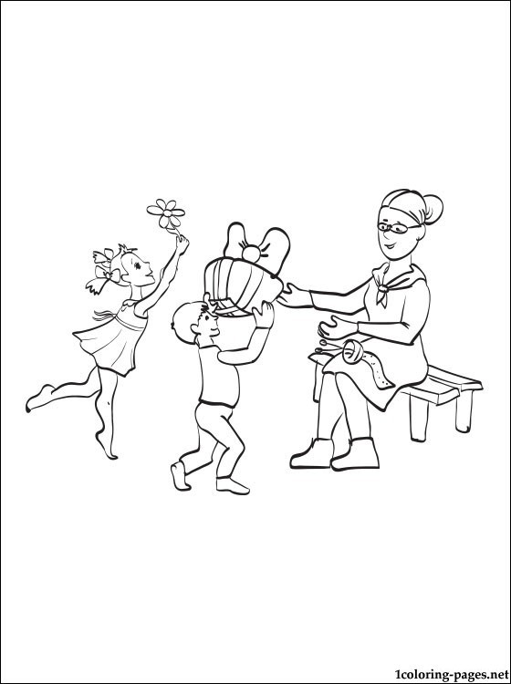 Happy Grandmother's Day Coloring Page Coloring Pages