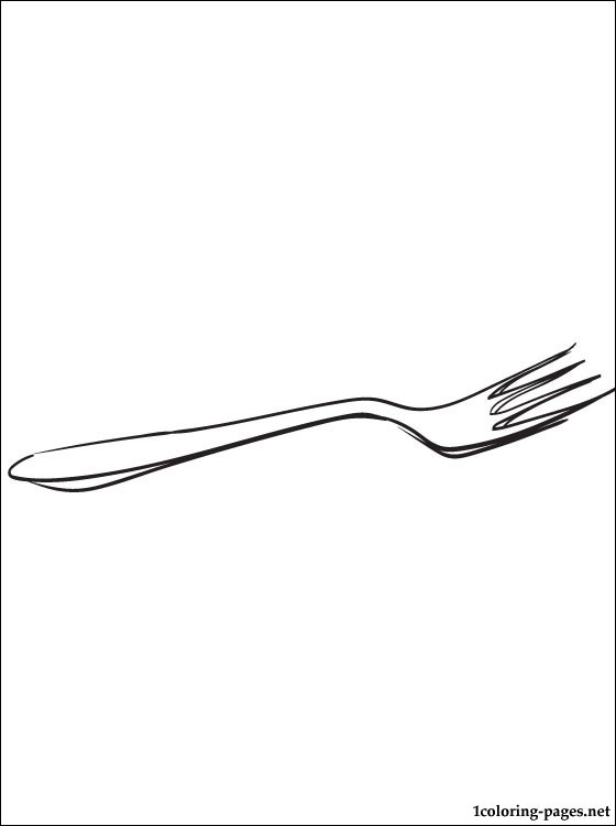 Fork Coloring Page Coloring Pages