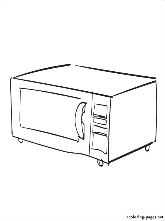 Cook Stove Coloring Pages