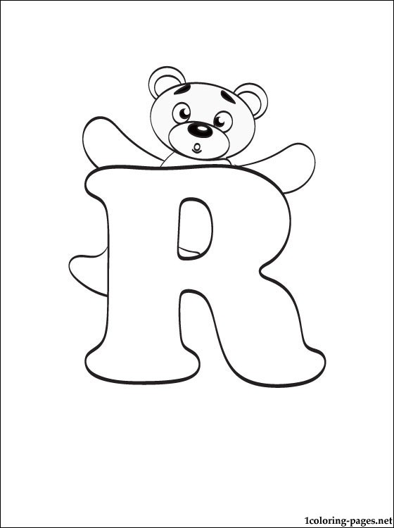 letter r coloring page # 20