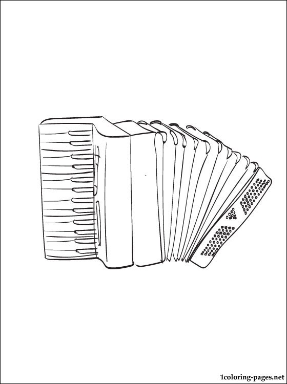 Accordion coloring page  Coloring pages