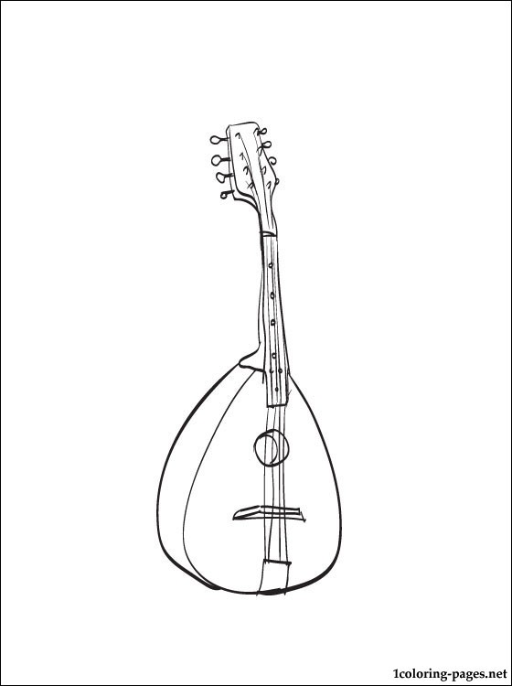 Mandolin Coloring Page Coloring Pages
