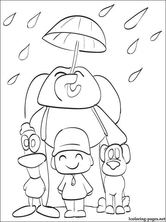 All Main Characters Pocoyo Coloring Page Coloring Pages