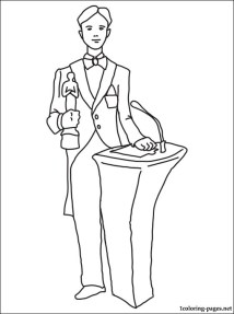 Actor coloring page Coloring pages