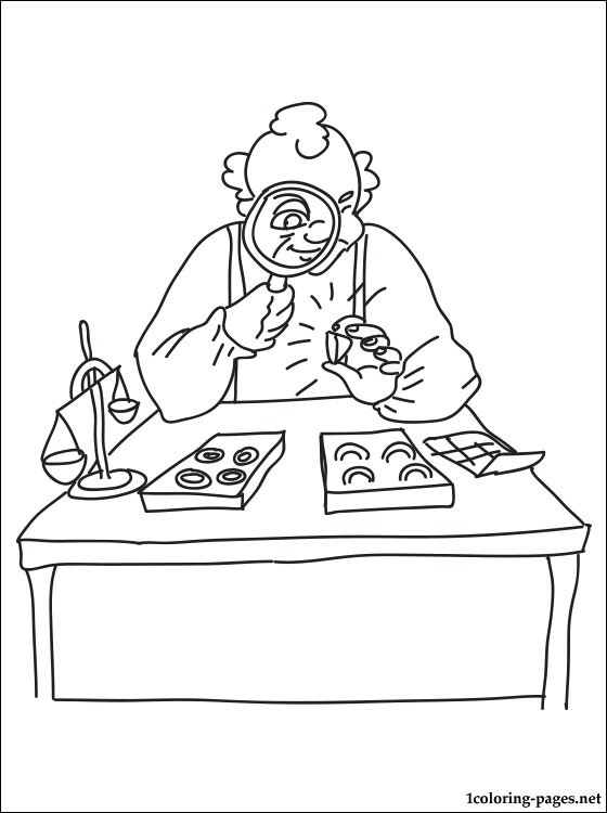 Coloring Page Goldsmith Coloring Pages